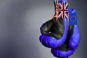 Brexit EU boxing gloves